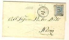 7285- Abruzzo, Montereale, numerale a punti per Narni,1869