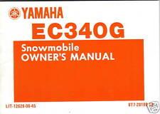 1983 YAMAHA EC340G SNOWMOBILE OWNERS MANUAL NEW
