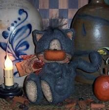 Primitive Halloween Fall Kitty Cat Doll Paper Pattern #603