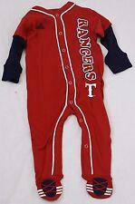 NEW Infant Toddler Kids Boys ADIDAS Texas RANGERS MLB Baseball Red 1 pc Pajamas