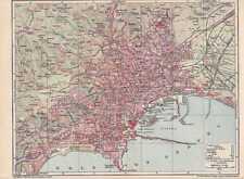 Napoli Napoli NAPULE Piazza Garibaldi mappa della città V. 1906