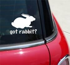 GOT RABBIT? RABBITS HARE FARM GRAPHIC DECAL STICKER ART CAR WALL DECOR