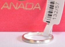 1 Trauring - Verlobungsring - Weißgold 333 Poliert - Breite 2mm - Mit Diamant