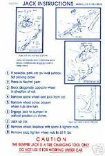1971 BARRACUDA/CUDA/CHALLENGER RT JACK INSTRUCT DECAL