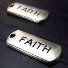Faith Wholesale Inspirational Message Charm Pendants C2952 - 10, 20 Or 50PCs