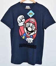 Primark Super Mario T Shirt Men's Nintendo Gamer Navy UK Sizes M - XXL