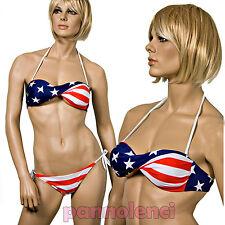 Bikini costume moda mare Bandiera USA Stati Uniti fascia donna F2670