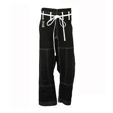 Playwell Brazilian Ju Jitsu Trousers Black BJJ Training Gi Bottoms Pants Jiu
