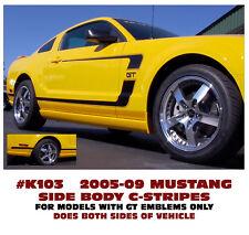 K103 2005-09 FORD MUSTANG - BOSS STYLE - REVERSE C-STRIPE KIT - FACTORY LOOK