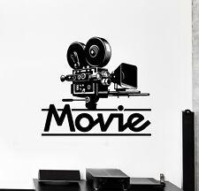 Vinyl Wall Decal Movie Art Film Cinema Filming Tv Camera Stickers Mural (g1664)