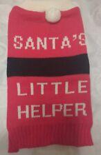CHRISTMAS SANTAS LITTLE HELPER  DOG JUMPER SWEATER xsmall 25 cm BACK LENGTH gift