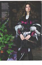 PUBLICITE 2012  JEAN PAUL GAULTIER haute  couture manteau en Patchwork