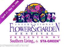 Disney Button Badge: WDW/Epcot - 5th International Flower & Garden Festival 1998