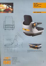 Isri 2400 /460 Prospekt Baumaschinensitz 2002 brochure seat construction vehicle