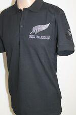 Adidas Herren Neuseeland New Zealand All Blacks Polo Shirt Schwarz Weiß
