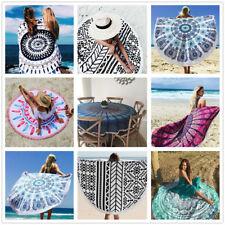 Bohemian Mandala Beach Towel Round Tapestry Blanket Bedspread Yoga Shawl