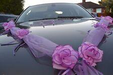 Marriage décoration voiture,ruban,noeuds,PROMO Limousine Décoration,violet