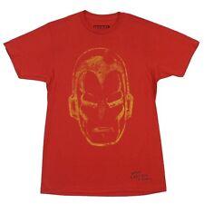 Iron Man Face Distressed Marvel Comics Licensed Adult T Shirt