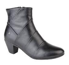 Ladies Fashion Inside Zip Ankle Boot Leather Memory Foam Sock