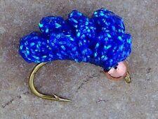 BH Blue Crystal Meth Steelhead Salmon trout sucker spawn fly fishing Bead Head
