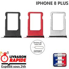Tiroir Carte Sim IPHONE 8 PLUS - rouge gris noir - rack card puce tray red black