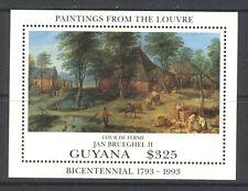 PAINTING BY BRUEGHEL, LOUVRE MUSEUM BICENTENNIAL ON GUYANA 1993 Scott 2744, MNH