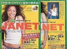 Janet Jackson-JAPON TOUR 2002 Japon 2x Flyer