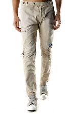 GR 74256 Beige pantalones de hombre absolut joy ; pantalón bolsillos cierre