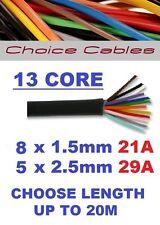 13 câble Caravane core, 12V / 24V auto multicœurs Câble, high current, 8x1.5 + 5x2.5