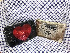 Borsa Pochette Le Pandorine Donna Illusion Love Kiss Paillette Oro / Nero DBA02