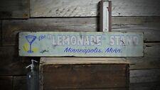 Custom Lemonade Stand City State Sign - Rustic Hand Made Vintage Wood ENS1000569