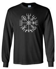 VEGVISIR Longsleeve T-shirt - S to 5XL - Norse Odin Viking Ragnarok Thor