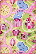 Childrens Pink Yellow Interactive FunFair Play Mat Fun Easy Clean Kids Rugs UK