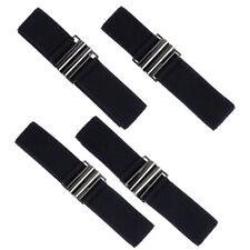 Damen Elastisch Gürtel mit Schnalle Mode Stretch Belt Taillengürtel Schwarz Neu