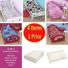 4 in 1 - CHILDREN'S BEDDING COT BED BUNDLE DUVET QUILT COVER JUNIOR KIDS TODDLER