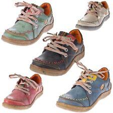 Damen Leder Halb Schuhe Comfort Sneakers Used Look Turnschuhe TMA EYES 1646
