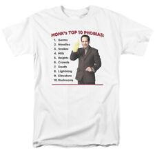Monk Top Ten Phobias List NBC TV Show T-Shirt Tee