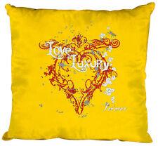 Cojín decorativo amarillo 40x40cm cojín elegante con Relleno Imprimir Amor