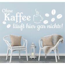 Wandtattoo Spruch Ohne Kaffee läuft hier gar nix Wandsticker Aufkleber Sticker 2