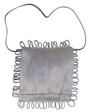 Sac à main CELINE ROBERT femme cérémonie gris clair scoubidou made in France bag