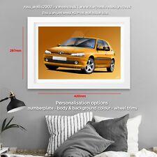 Peugeot 306 GTI-6 Classic Car Poster Print