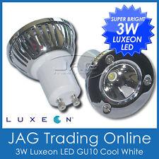 240V 3W LUXEON LED GU10 WHITE DOWNLIGHT GLOBE - Ceiling/Cabin/Lamp/Down Light