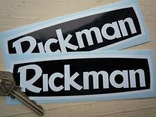 "RICKMAN White on Black Style Motorcycle Bike STICKERS 6"" Pair Classic Metisse"
