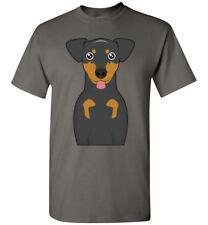 Manchester Terrier Dog Cartoon T-Shirt Tee - Men Women Ladies Youth Tank Long