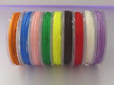 Rolle Nylon Flecht Kordel Schnur Band 10 m / 0,8 mm Farbwahl 2795