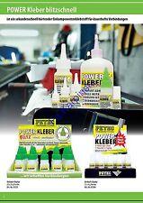 Petec Power Kleber Sekundenkleber Blitzkleber