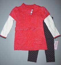 LITTLE LASS® Toddler Girl 2T, 3T, 4T Sunkist Sweater & Leggings Set NWT $44