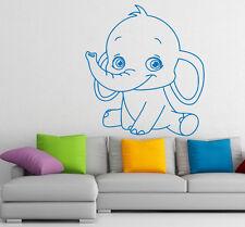 Wall Decal Elephant Vinyl Sticker Baby Animals Interior Art Nursery Decor m184