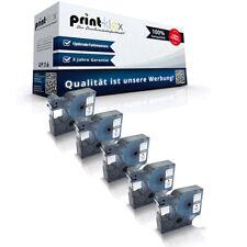 5x Alternative Schriftbänder für Dymo 45010 Beschriftungsband -Office Plus Serie