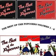 V.A. - THE BEST OF THE POPCORNS Vol. 1-6 - 6 CD Set!